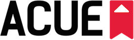 A graphic of the ACUE logo