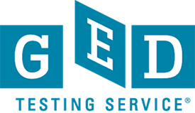 A graphic of the GED Testing Service logo