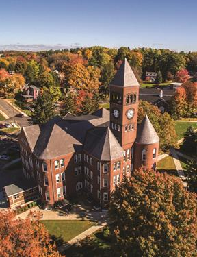 Picture of aerial view of Slippery Rock University campus